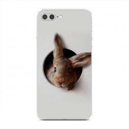 Силиконовый чехол Любопытный кролик на iPhone 7 Plus