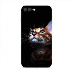 Силиконовый чехол Мечтательный кот на iPhone 7 Plus