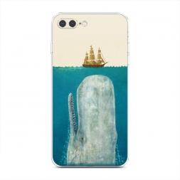 Силиконовый чехол Кит и корабль на iPhone 7 Plus