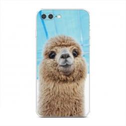 Силиконовый чехол Милая лама на iPhone 7 Plus