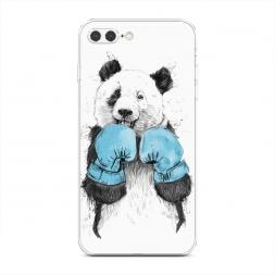 Силиконовый чехол Панда боксер на iPhone 7 Plus