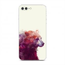 Силиконовый чехол Исчезающий медведь на iPhone 7 Plus