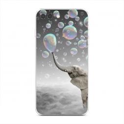 Силиконовый чехол Слон и мыльные пузыри на iPhone 7 Plus
