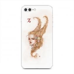 Силиконовый чехол Козерог прическа на iPhone 7 Plus