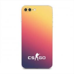 Силиконовый чехол CS logo frade на iPhone 7 Plus