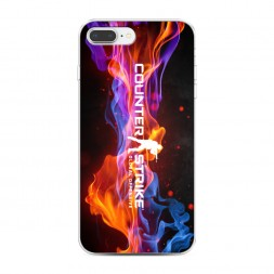 Силиконовый чехол CS logo пламя на iPhone 7 Plus