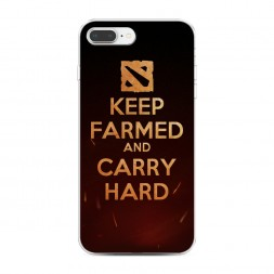 Силиконовый чехол Keep farmed на iPhone 7 Plus