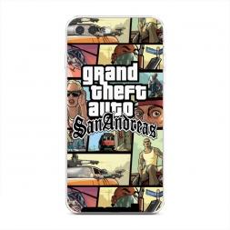 Силиконовый чехол GTA san andreas кадры на iPhone 7 Plus