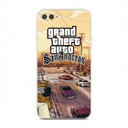 Силиконовый чехол GTA san andreas пейзаж на iPhone 7 Plus