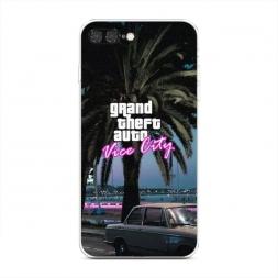 Силиконовый чехол GTA vice city пальмы на iPhone 7 Plus