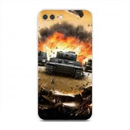 Силиконовый чехол Наступление на iPhone 7 Plus