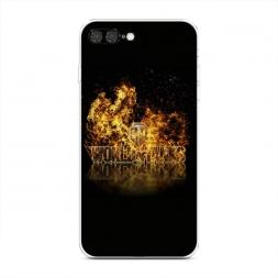 Силиконовый чехол Мир танков в огне на iPhone 7 Plus