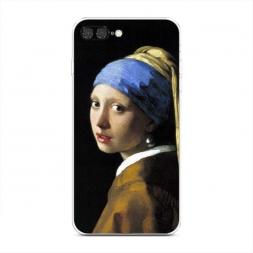 Силиконовый чехол Девушка с жемчужной сережкой на iPhone 7 Plus