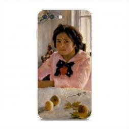 Силиконовый чехол Девочка с персиками на iPhone 7 Plus