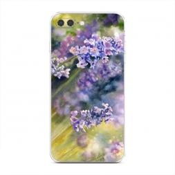 Силиконовый чехол Акварель сиреневые цветы на iPhone 7 Plus