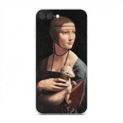 Силиконовый чехол Портрет дама с горностаем на iPhone 7 Plus