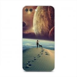 Силиконовый чехол Космический путь на iPhone 7 Plus