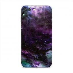 Силиконовый чехол Космос фиолетовый на iPhone 7 Plus