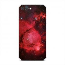 Силиконовый чехол Космос красный на iPhone 7 Plus