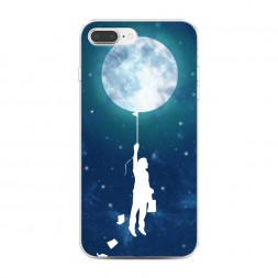 Силиконовый чехол Воздушная луна на iPhone 7 Plus