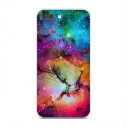 Силиконовый чехол Смешание цвета в космосе на iPhone 7 Plus