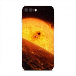 Силиконовый чехол Раскаленное солнце на iPhone 7 Plus