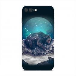 Силиконовый чехол Медведица на iPhone 7 Plus