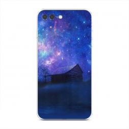 Силиконовый чехол Дом и звездное небо на iPhone 7 Plus