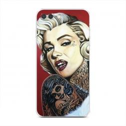 Силиконовый чехол Мерелин в татуировках на iPhone 7 Plus