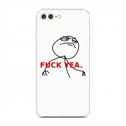 Силиконовый чехол Fuck yea на iPhone 7 Plus