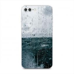 Силиконовый чехол Дождь за стеклом на iPhone 7 Plus