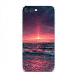 Силиконовый чехол Розовый закат на iPhone 7 Plus