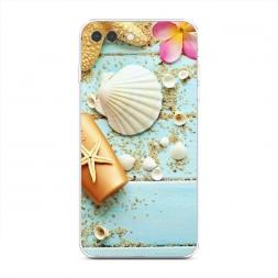 Силиконовый чехол Морские жители на iPhone 7 Plus