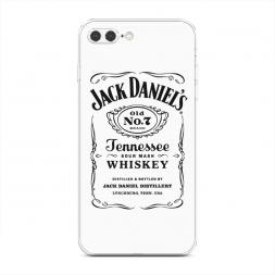 Силиконовый чехол Джек Дэниелс белый на iPhone 7 Plus