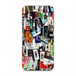 Силиконовый чехол Коллекция кассет на iPhone 7 Plus