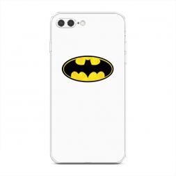 Силиконовый чехол Бэтман белый на iPhone 7 Plus