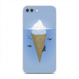 Силиконовый чехол Айсберг на iPhone 7 Plus