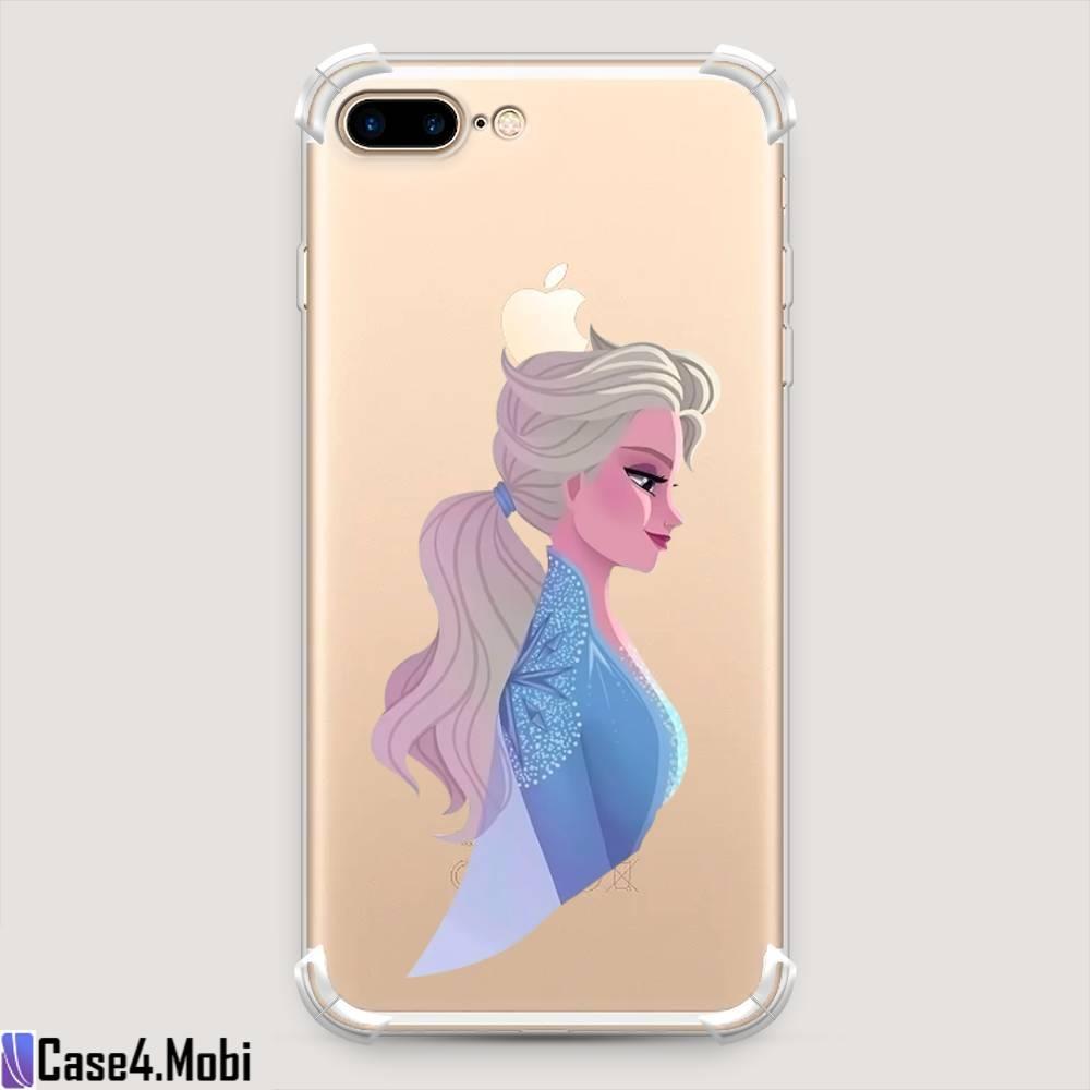 Противоударный силиконовый чехол Frozen 2 Elsa на iPhone 8 Plus