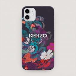 Пластиковый чехол Кензо в цветах на iPhone 11