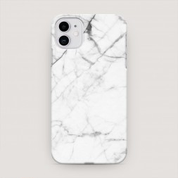 Пластиковый чехол Светлый мрамор на iPhone 11