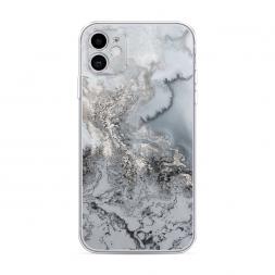 Силиконовый чехол Морозная лавина серая на iPhone 11