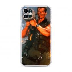 Силиконовый чехол Арнольд Шварцнеггер с базукой на iPhone 11