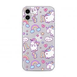 Силиконовый чехол Sweet unicorns dreams на iPhone 11