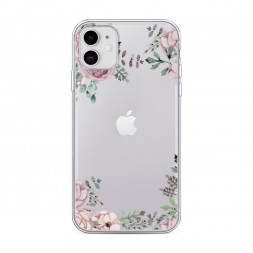 Силиконовый чехол Нежные розы акварель на iPhone 11