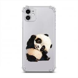 Противоударный силиконовый чехол Большеглазая панда на iPhone 11