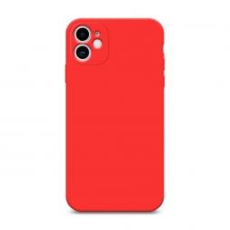 Матовый силиконовый чехол без принта на iPhone 11, iPhone 11 без принта красный