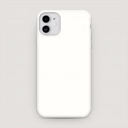 Матовый силиконовый чехол без принта на iPhone 11, iPhone 11 без принта белый