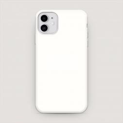 Матовый силиконовый чехол Совет свой себе посоветуй на iPhone 11, iPhone 11 Совет свой себе посоветуй белый