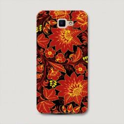 Пластиковый чехол Хохлома красная на Samsung Galaxy J5 Prime 2016
