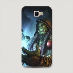 Пластиковый чехол Warcraft Тралл на Samsung Galaxy J5 Prime 2016